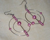 SALE 50 percent off Pink Solar System Errings Free Domestic Shipping