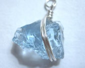 SAVE IT BABY recycled blue glass pendant