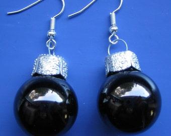Black Bobble Earrings