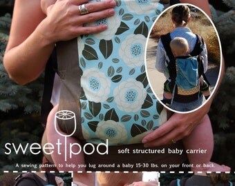 Both SweetPod baby gear patterns-- the Carrier and Saddle Bag