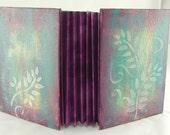 handmade journal...spring sunset