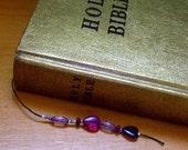 Beaded book thong/book mark