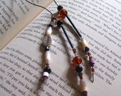 """Book Thong """"Believe""""  with reclaimed vintage beads"""