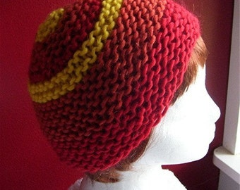 Hot Head Handknit wool and mohair hat/beanie CLEARANCE