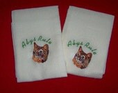 Abyssinian Embroidered Kitchen Towels
