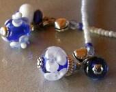 Blue Lampwork FloralBookmark