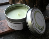 Garden Mint Scented Soy Candle, Travel Tin 6 oz