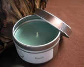 Basil Herb Scented Soy Candle, Travel Tin 6 oz