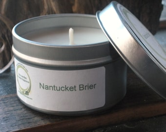 Nantucket Brier Type Exotic Floral Scented Soy Candle Travel Tin 6 oz
