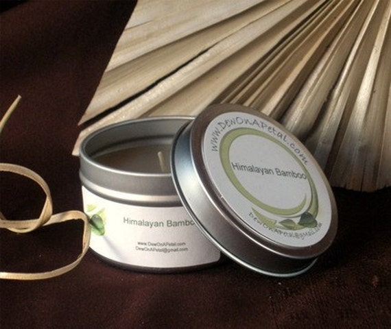 Himalayan Bamboo Scented Soy Candle Travel Tin 6 oz