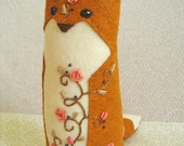 Briar Rose One of a Kind embroidered Fox Plush