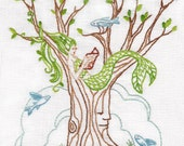 Mermaid Tree Embroidery Pattern PDF download hand embroidery patterns designs