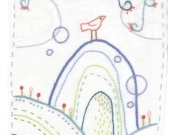 Bird Hill Embroidery Pattern PDF