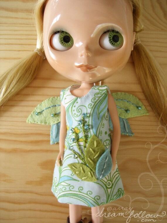 Little Wing leaf fairy Blythe dress