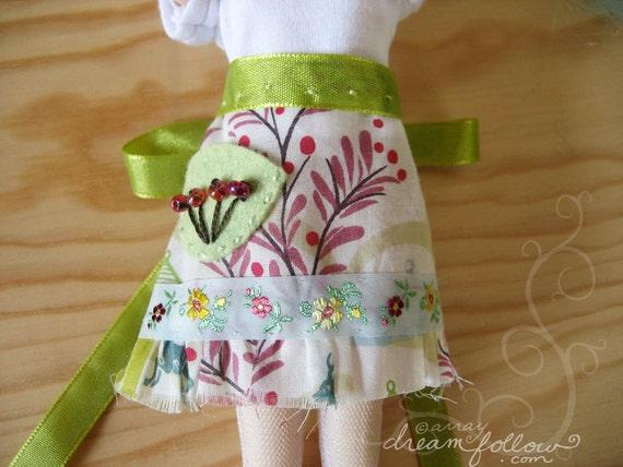 Gypsy Scrapwork apron skirt for Blythe