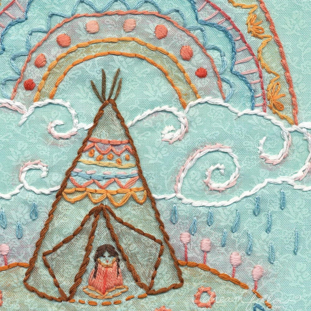 Warriors Come Out And Play Download: Rainbow Warrior Embroidery Pattern Boho Decor PDF Download