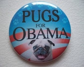jewell the pug for obama button