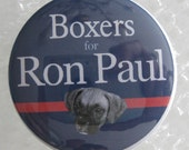 boxer dogs for ron paul badge
