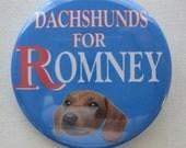 dachshunds for Mitt Romney button
