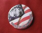 weimeraner proud american badge
