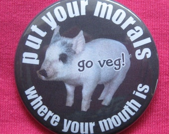 put your morals where your mouth is ... pig mirror or keychain