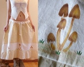 Tan Mushrooms Skirt