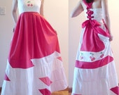 Red White Pink Cherries Dress