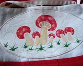 Red Amanitas Mushrooms Apron Top