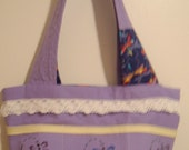 Custom Order for Knitspin Purple Dragonfly Purse