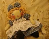 Original Handmade Cloth Doll, Meagan