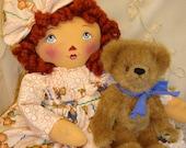 Primitive Raggedy Ann Doll. by Renata