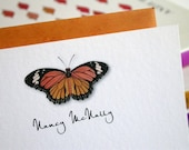 Personalized Butterfly Notecards - Set of 12 Custom Cards