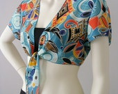 Vintage Fabric Tie Front Crop Top