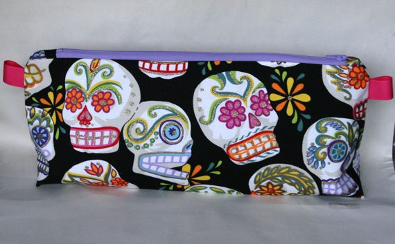 Sparkly Sugar SKulls Large wedge bag