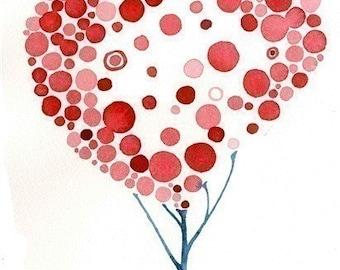 Fine Art Love Flourishes Watercolour Print Wall Art