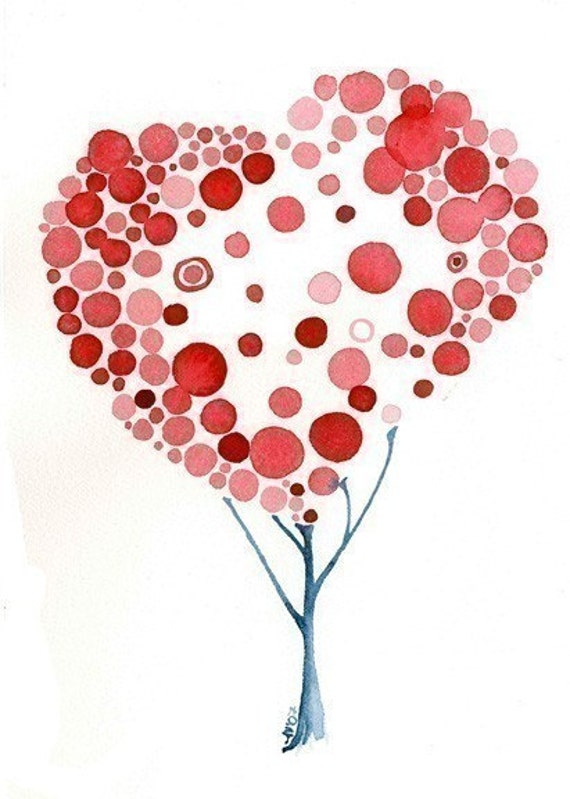 Fine Art Love Flourishes Watercolour Print Wall Art