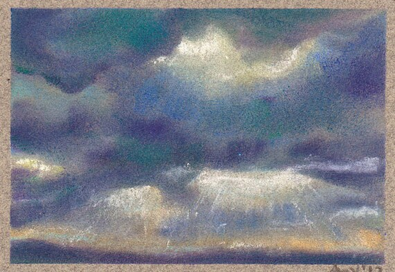 Pastel Painting Sun Break Original ACEO ATC
