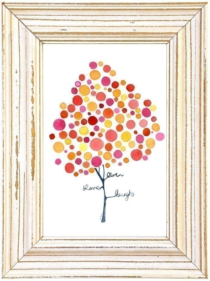 Inspirational Art Pink Inspiration Watercolour Print