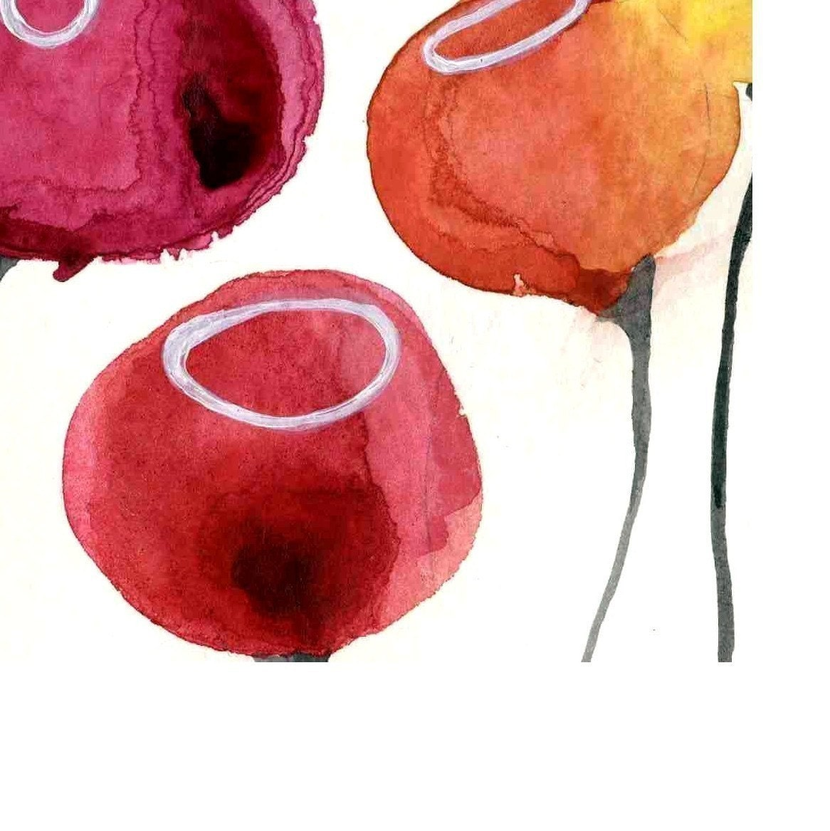 Watercolour Poppies Print for your Kitchen Office Bathroom and Home