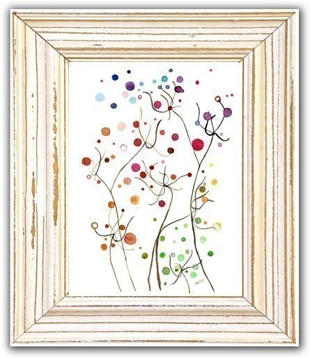 Flower Dust Art Print Original Floral Watercolor Artwork