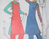 Tunic Smock/Apron, Shirt, and Wide Leg Pants Vintage Pattern Size 10 Bust 32 1/2 Simplicity 7426