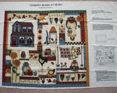 Country Bears Wall Quilt Fabric Panel Leslie Beck