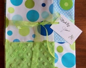 Circles and More Textured Baby Quilt