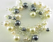 Silver Plated Multi-Colored Pearls Bracelet