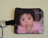 SOLD Photo Keychain Coin Purse