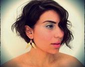 Wings or Leaves... Romantic Earrings...Custom Flower Colors