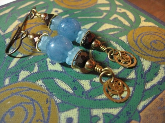 Summering At The Cottage Steampunk Earrings
