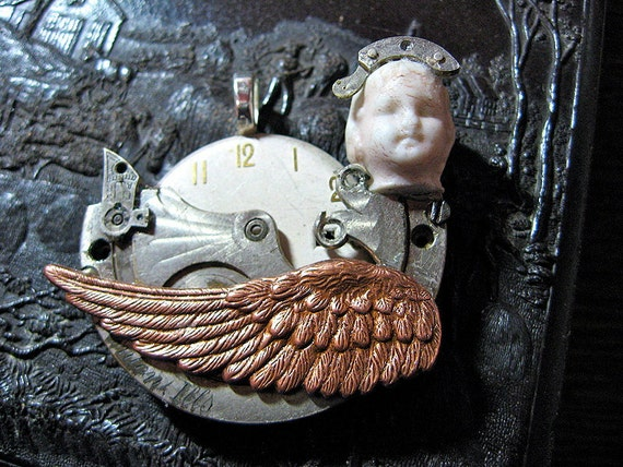 Swan Song Steampunk Pendant