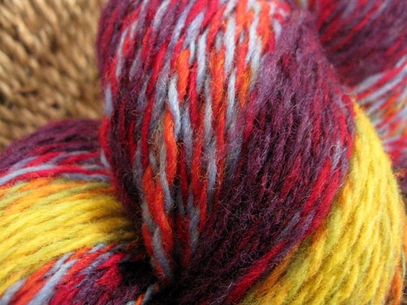 RESERVED for Kendra-Fractal Handspun 2 Ply