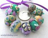 Handmade Lampwork Butterfly Beads